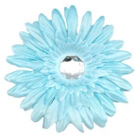 Light Blue Gerber Daisy Flower Clips