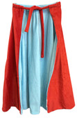 Red and Blue Super Hero Boy Cape