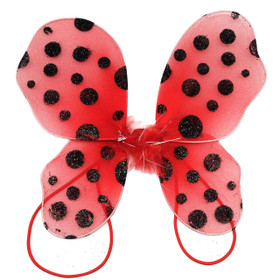 Red with Black Polka Dots Baby Butterfly Wings