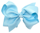 Light Blue Princess Girl Boutique Bows