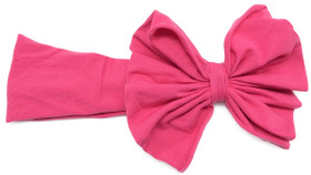 Hot Pink Jersey Knit Bow on Cotton Headband for kids