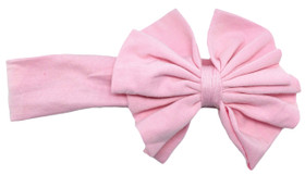 Cute Light Pink Jersey Knit Bow on Cotton Headband for girls - Baby Headbands