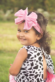 Cute Jersey Knit Bow on Cotton Headband for girls Light Pink - Baby Headbands
