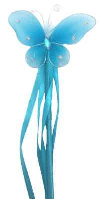 Turquoise Princess Butterfly Wand
