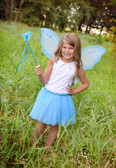 Princess Butterfly Wand Turquoise