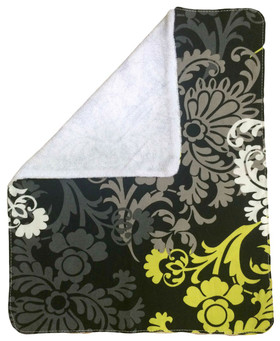 Colorful Damask Burp Rag