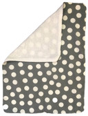 Gray With White Polka Dots Burp Rag