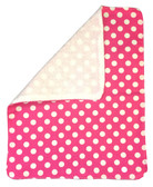 Hot Pink With White Polka Dots Burp Rag