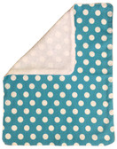 Turquoise With White Polka Dots Burp Rag