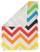 Rainbow Chevron Burp Rag