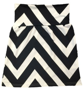 Black Chevron Maxi Skirt