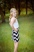 Black Chevron Maxi Skirt for Infants