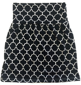 Black Quatrefoil Maxi Skirt