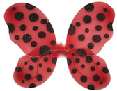 Red Butterfly Wings With Black Polka Dot for Lady Bug Costumes