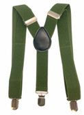 Olive Green Adjustable Suspenders For Infant, Newborn and Toddler Boys