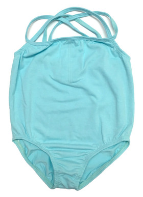 Wholesale Girls Aqua Leotards with Straps For Dance, Ballet, Gymnastics