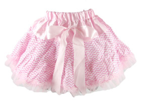 Light Pink Chevron Pettiskirt