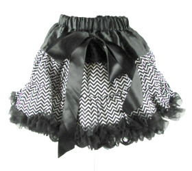 Black Chevron Pettiskirt