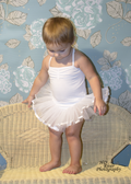 Skirted Leotard White