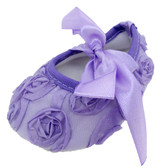 Lavender Rosette Crib Shoes