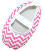 Light Pink Chevron Crib Shoes