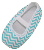 Aqua Chevron Crib Shoes