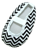 Black Chevron Crib Shoes
