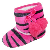 Hot Pink Zebra Baby Boots