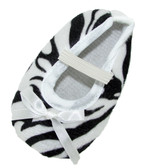 Zebra Crib Shoes with White Bow