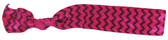 Hot Pink Black Chevron Fold Over Elastic Hair Ties