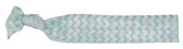 Aqua Chevron Fold Over Elastic Hair Ties