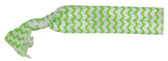 Lime Green Chevron Fold Over Elastic Hair Ties