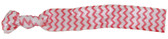 Hot Pink Chevron Fold Over Elastic Hair Ties