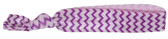 Purple Chevron Fold Over Elastic Hair Ties