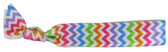 Rainbow Chevron Fold Over Elastic Hair Ties