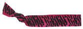Zebra Hot Pink Fold Over Elastic Hair Ties