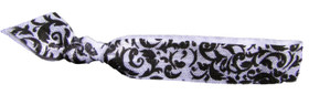 Damask Fold Over Elastic Hair Ties