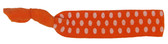Orange White Dot Fold Over Elastic Hair Ties