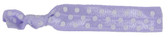 Lavender White Dot Fold Over Elastic Hair Ties
