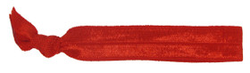 Red Fold Over Elastic Hair Ties