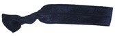 Navy Blue Fold Over Elastic Hair Ties
