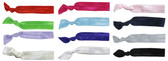 Assorted Solid Colors Fold Over Elastic Hair Ties