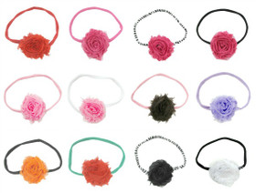 Shabby Flower Headbands