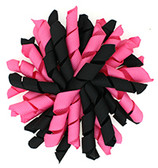 Hot Pink Black Korker Bows
