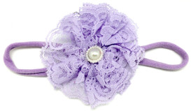Lavender Lace Flower on Lavender Skinny Headband