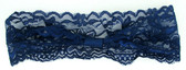 Navy Blue Wide Lace Headbands