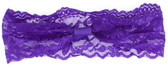Purple Wide Lace Headbands