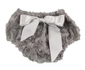 Gray Rosette Bloomer for Girls