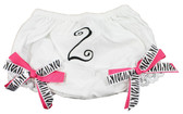 Zebra Hot Pink Birthday Diaper Cover #2