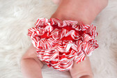 Red Zebra Satin Diaper Cover